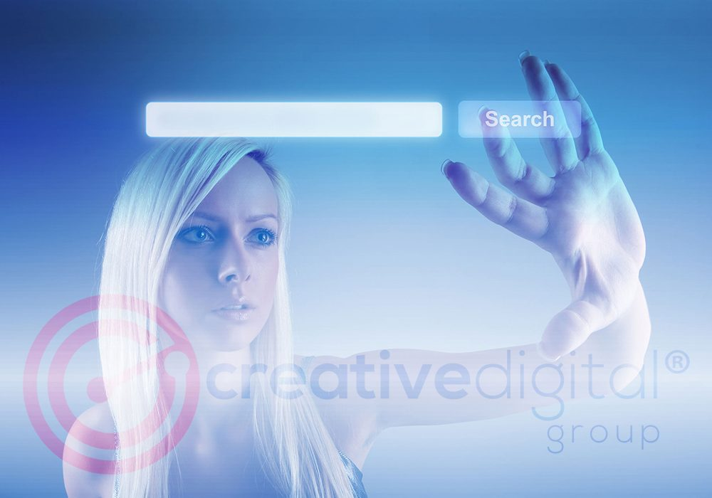 Creative Digital Group Female Searching Web